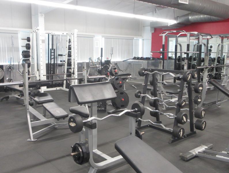 Free Weight Room Far Corner View