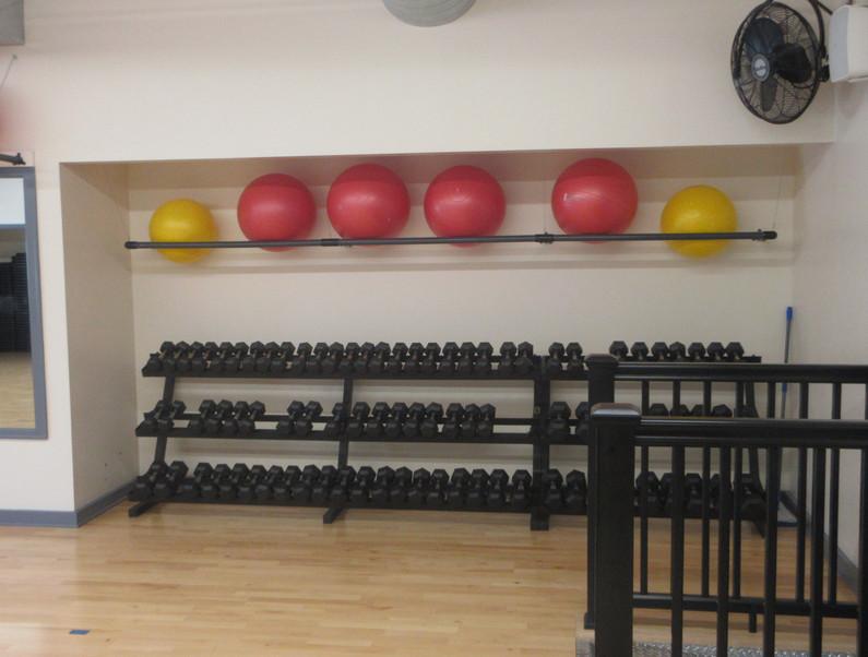 Group Fitness Room Dumbbells