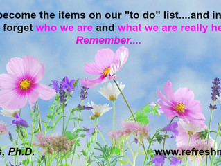 "Are We Our ""To Do"" Lists?"