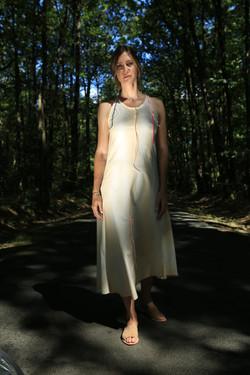 Jess in sheet dress