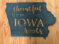 Thankful iowa roots