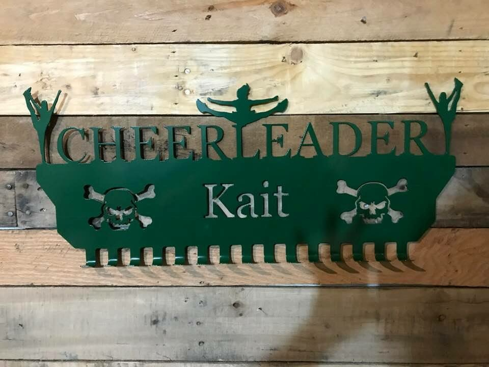 Cheerleader medal sign