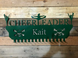 Cheerleader medal sign