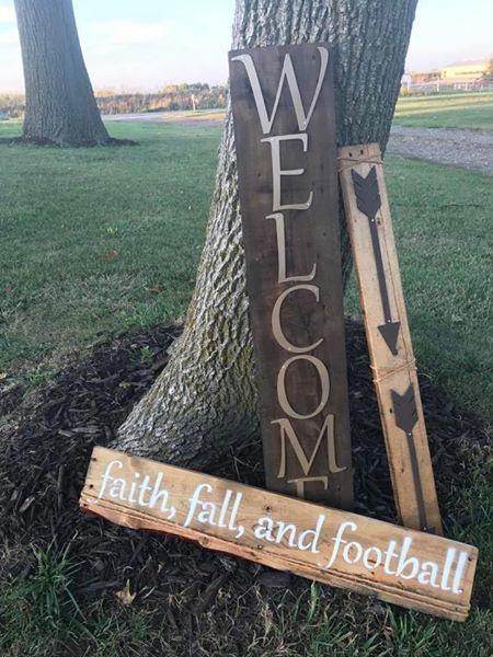 custom metal on wood signs
