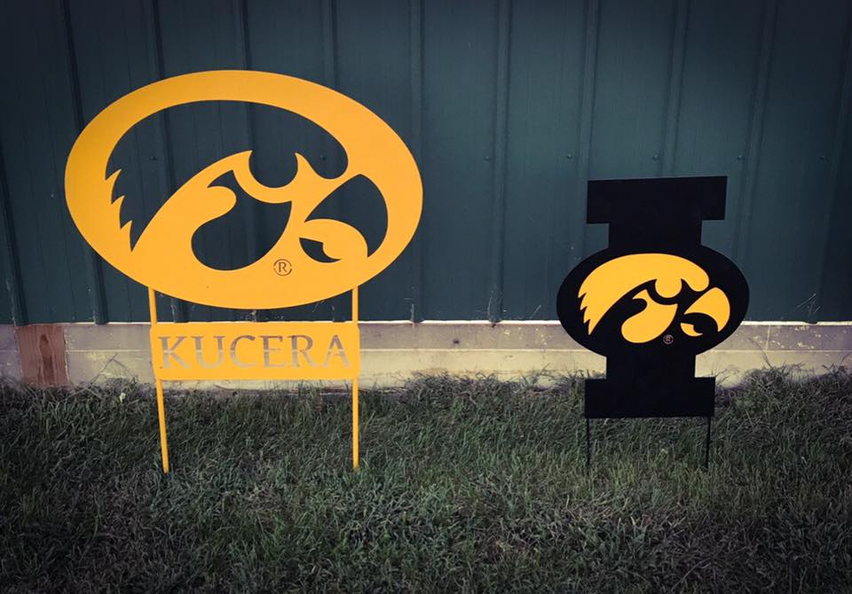 iowa sign with name under it