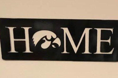 HOME sign with Herky