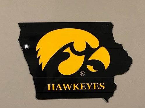 Iowa Hawkeyes Metal sign