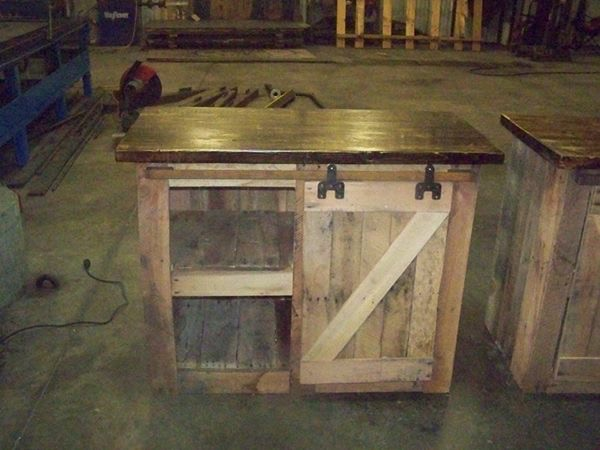 small barn door cabinet