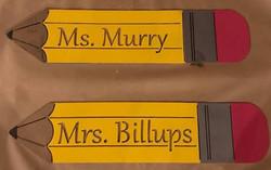 Teacher metal pencil sign