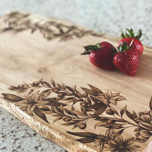 Floral Charcuterie Board