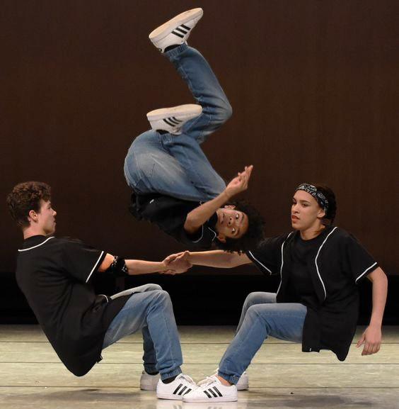 1 Dancer doing a backflip