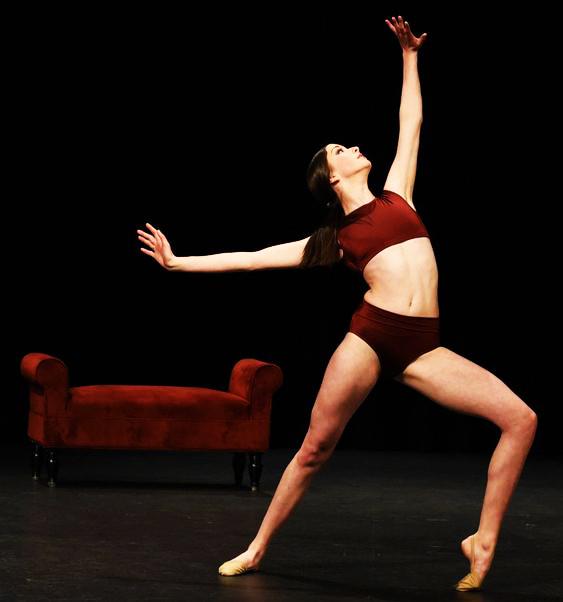 Dancer stretching body
