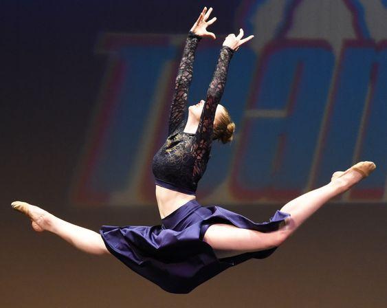 Dancer mid-leap