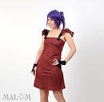 Robe jersey rouge créateur Malam