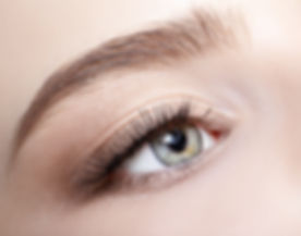 Closeup shot of human  female face with eye  day makeup_