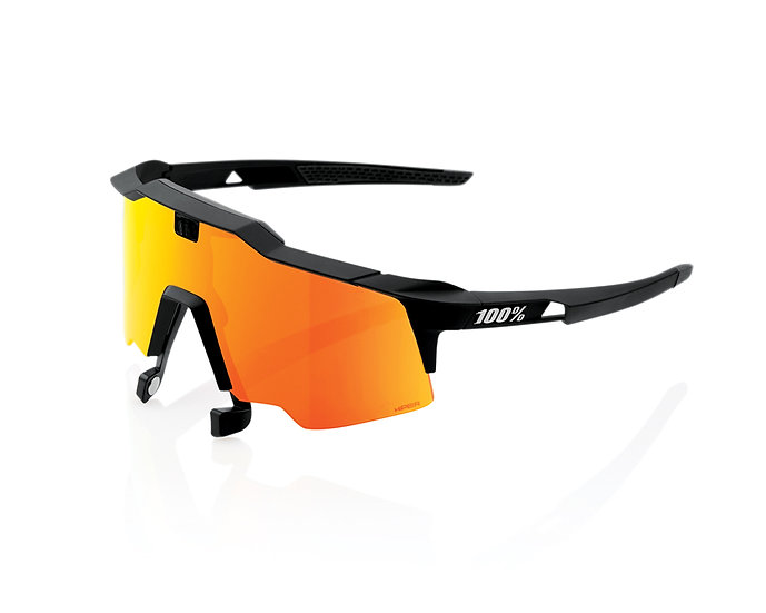 100% SOLAIRES Lunettes solaires SPEEDCRAFT AIR Soft Tact Black Hiper Red Multila