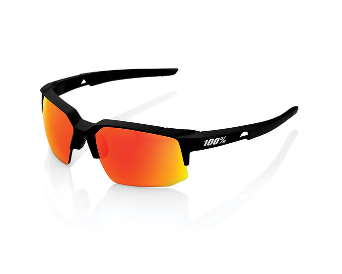 100% SOLAIRES - Lunettes solaires SPEEDCOUPE Soft Tact Black Hiper Red Multilaye