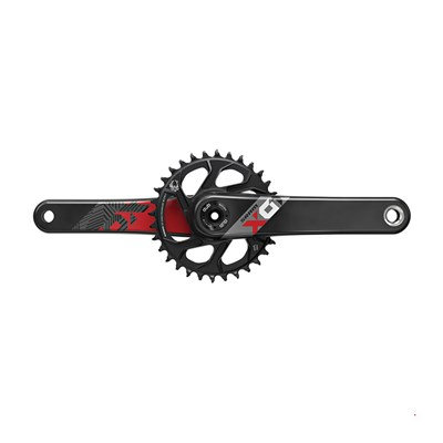 PÉDALIER SRAM EAGLE X01 DUB BOOST 148 175 mm 32 DENTS 12V.NOIR/ROUGE