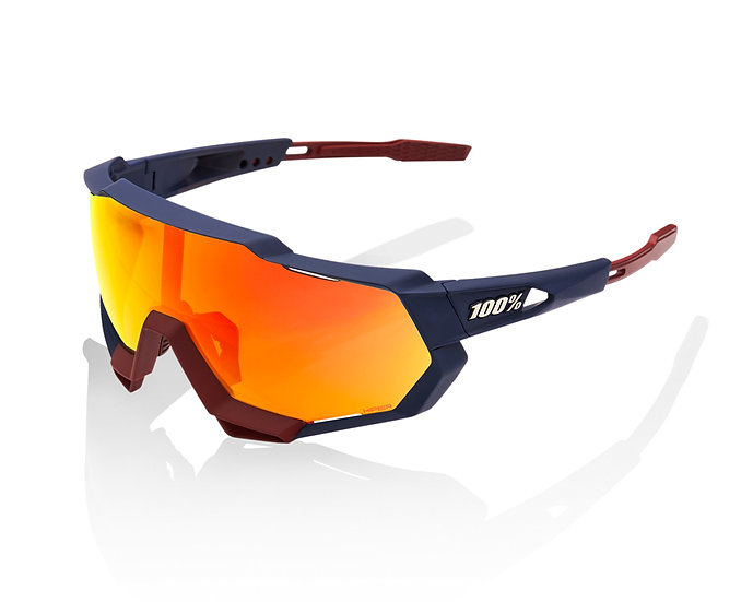 100% Lunettes solaires SPEEDTRAP Soft Tact Flume Hiper Red Multilayer Mirr