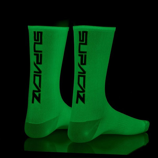 Chaussettes SUPACAZ SupaSox StraightUp Glow in the dark