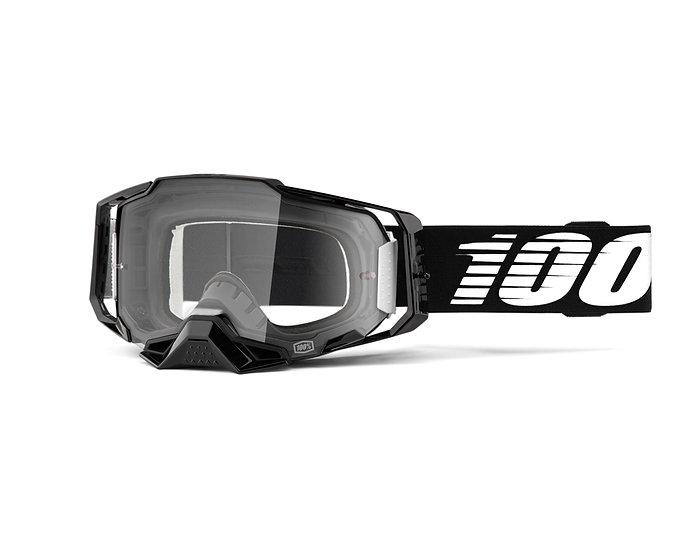 100% MASQUES - Masque ARMEGA Black Clear lens