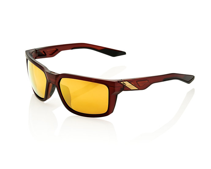 100% SOLAIRES - Lunettes solaires BLAKE Soft Tact Rootbeer Flash Gold lens