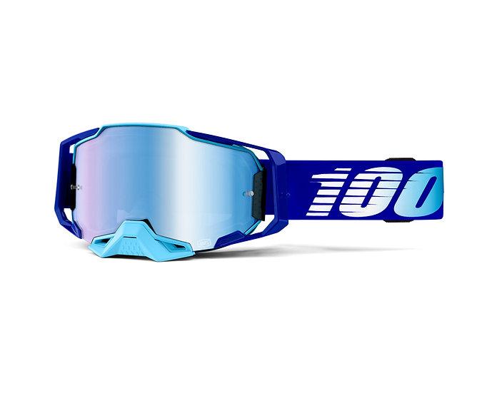 100% MASQUES - Masque ARMEGA Royal Blue Mirror lens