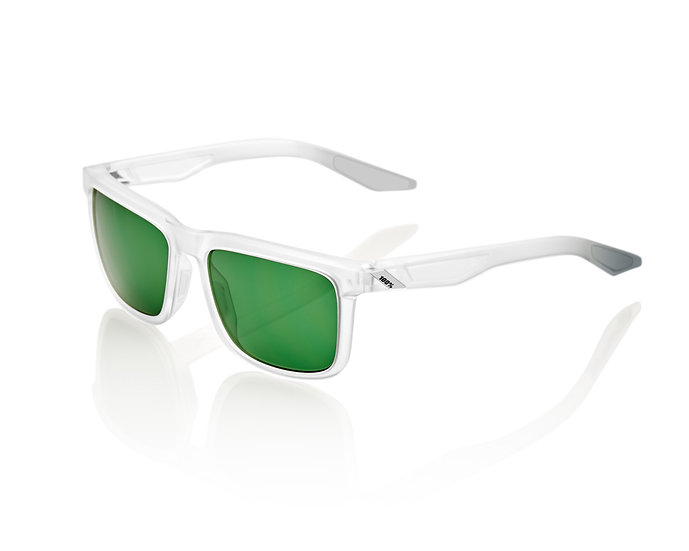 100% SOLAIRES Lunettes solaires BLAKE Matte Translucent Crystal Clear Grey Green