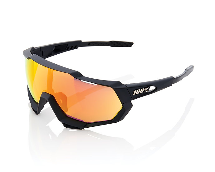 100% SOLAIRES - Lunettes solaires SPEEDTRAP Soft Tact Black Hiper Red Multilayer