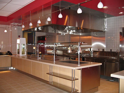 Modern commercial kitchen