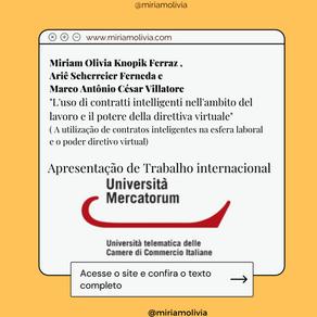 A UTILIZAÇÃO DE CONTRATOS INTELIGENTES NA ESFERA LABORAL E O PODER DIRETIVO VIRTUAL   Internacional
