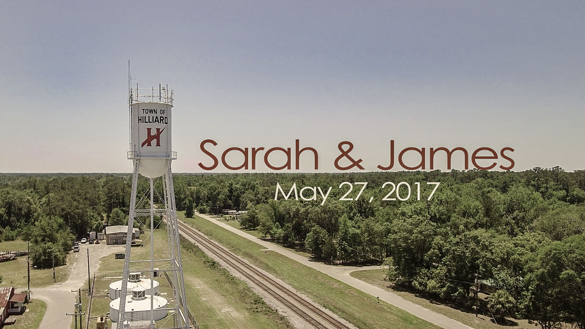 sarah & James - water tower