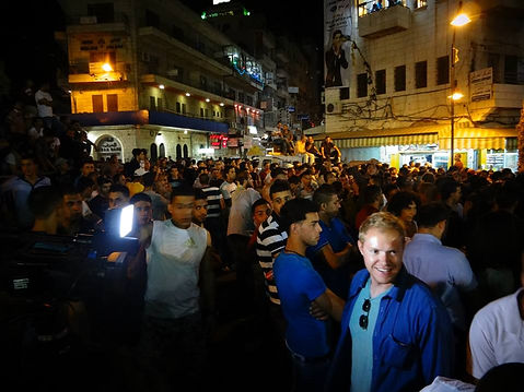 Drew H Kinney Drew Holland Kinney in Middle East West Bank Palestine Mohammad Assaf Arab Idol Interview