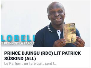 """Prince Djungu lit """"Le Parfum"""" de Suskind"""