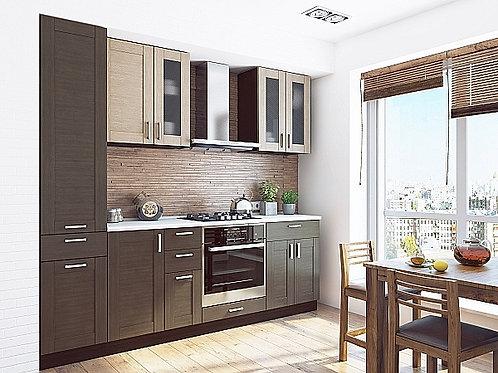 Кухонный модуль лофт 2 Cappuccino Veralinga/Wenge Veralinga