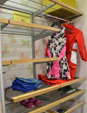 система хранения детской одежды