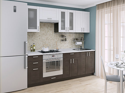 Кухонный модуль лофт 1 Snow Veralinga/Wenge Veralinga