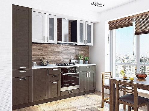 Кухонный модуль лофт 2 Snow Veralinga/Wenge Veralinga