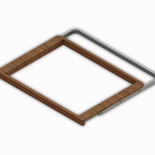 Рамка выдвижная деревянная 607х450мм