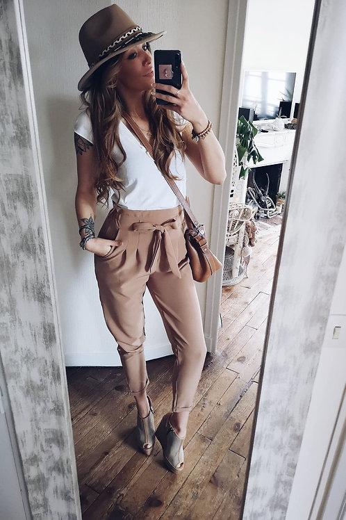 Pantalon Caresse camel