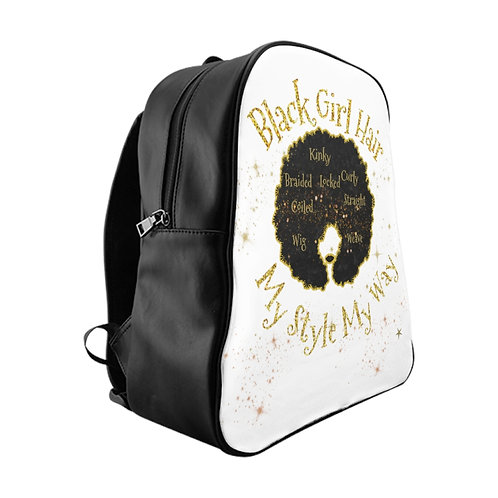 Black Girl - Hair School Backpack