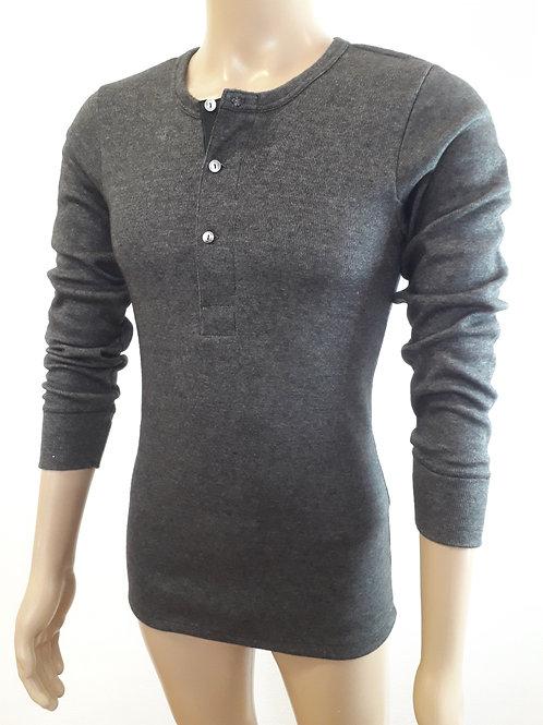 Unisex Langarm-Hemd mit Knopfleiste | Strickflausch