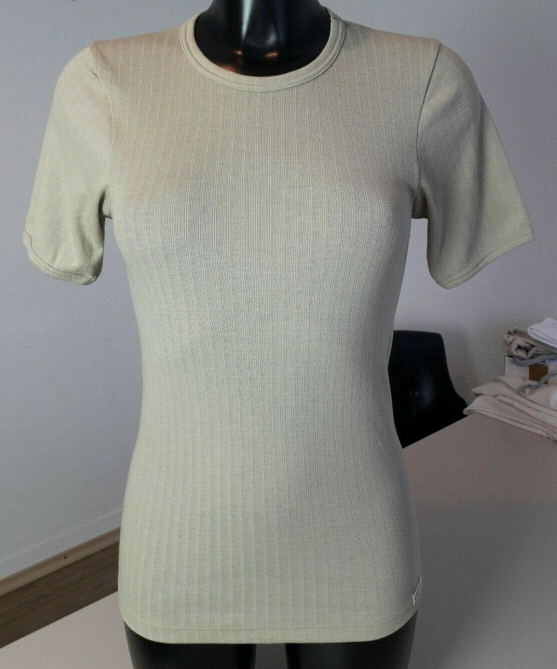 1b Ware - Unisex Kurzarm Unterhemd 67% Merinowolle | 33% Seide