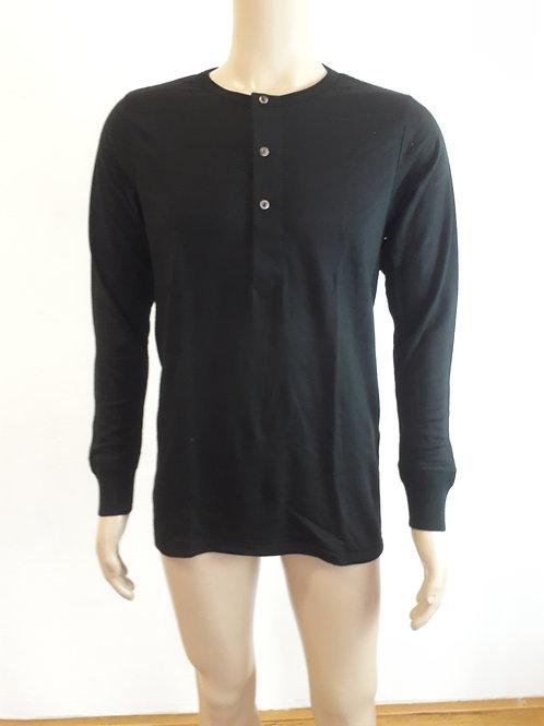 Unisex Unterhemd mit Knopfleiste aus 100 % Wolle (Merinowolle)