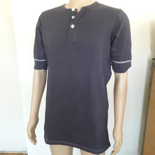 1B Ware-Herren-Hemd 1/2-Arm m. Knopfleiste | Henkel-Plüsch | blau