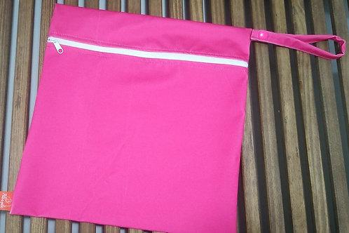Sacola ppele-impermeável rosa G