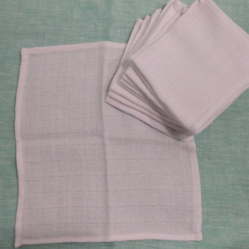 Paninho de higiene (100% algodão) (com 10 unidades) (#10067)