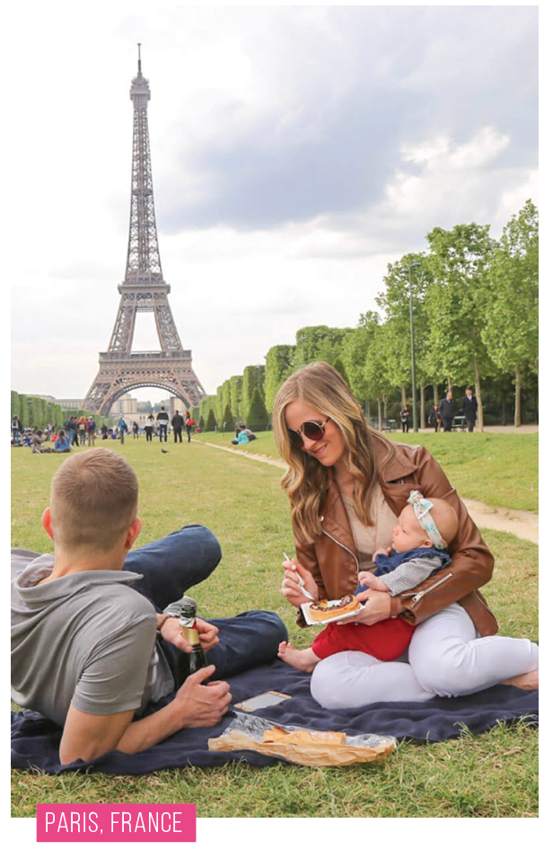 Sarah and her family in Paris, France