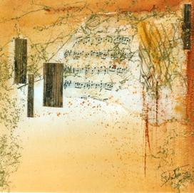 Ode à la lumière 3 (30x30)cm, Techniques mixtes sur papier