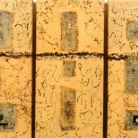 Traces (50x100)cm, Techniques mixtes sur toile
